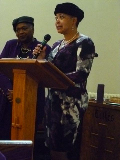 Ms.-Plummer-accepting-Certificate-of-Award-from-Ms.-Lyndia-Grant-at-the-All-Nations-Baptist-Church-Aomens-Day-Awards-Celebration.-e1541432930936