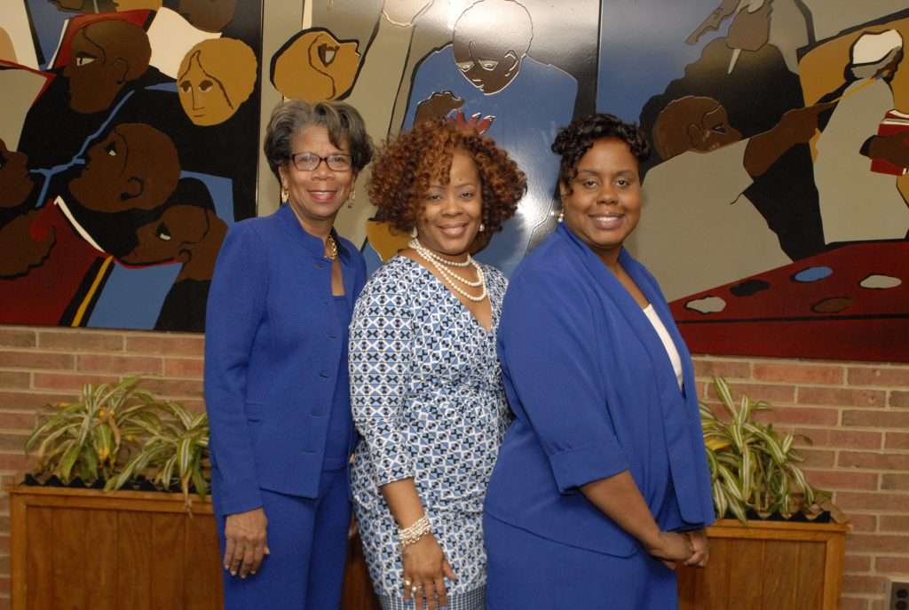 Board Members Stephanie Minor-Harris, Bernadette White, Jessica  Brewster-Johnson