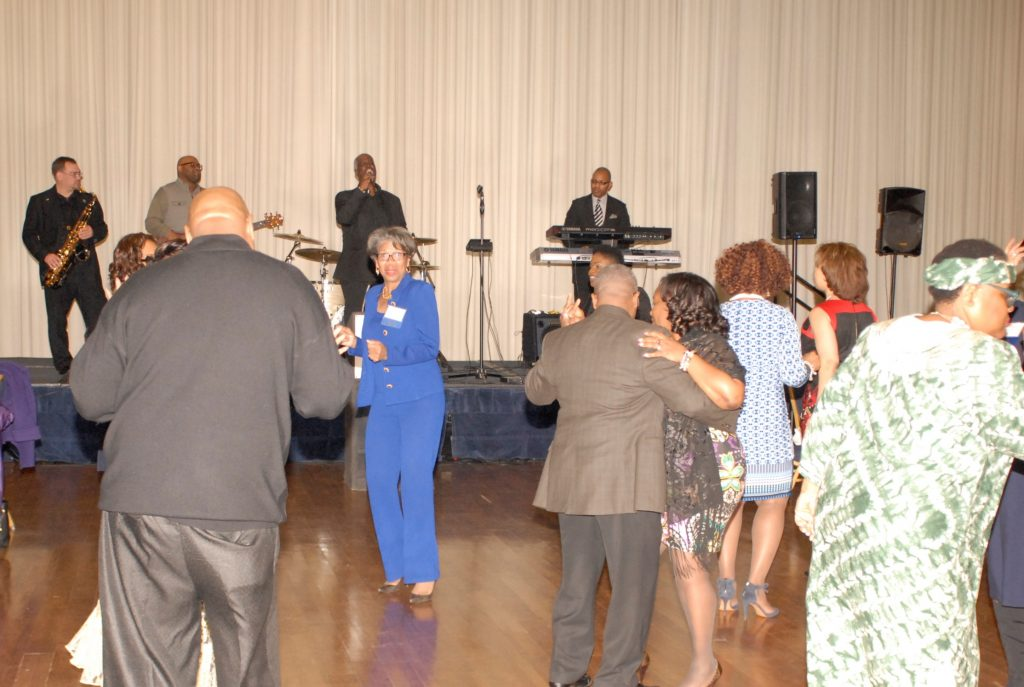 Guests and Board Members enjoy dancing and entertainment